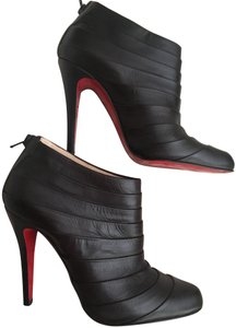 Christian Louboutin Orniron Ankle Pleated Ankle Dark Brown Boots