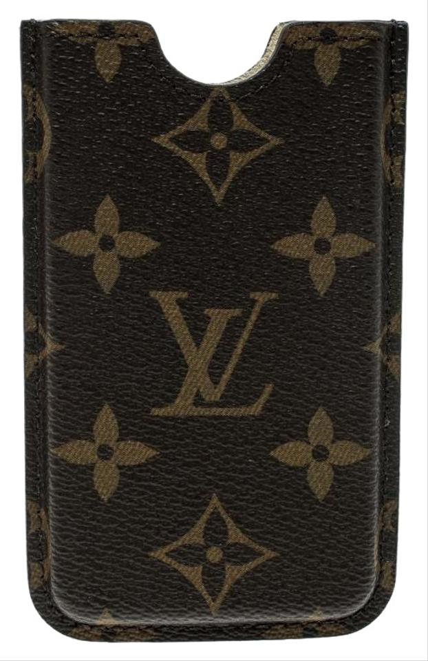 new style b9a6a 6477f Louis Vuitton Brown Monogram Canvas Iphone 4 Hardcase Cover Tech Accessory  34% off retail