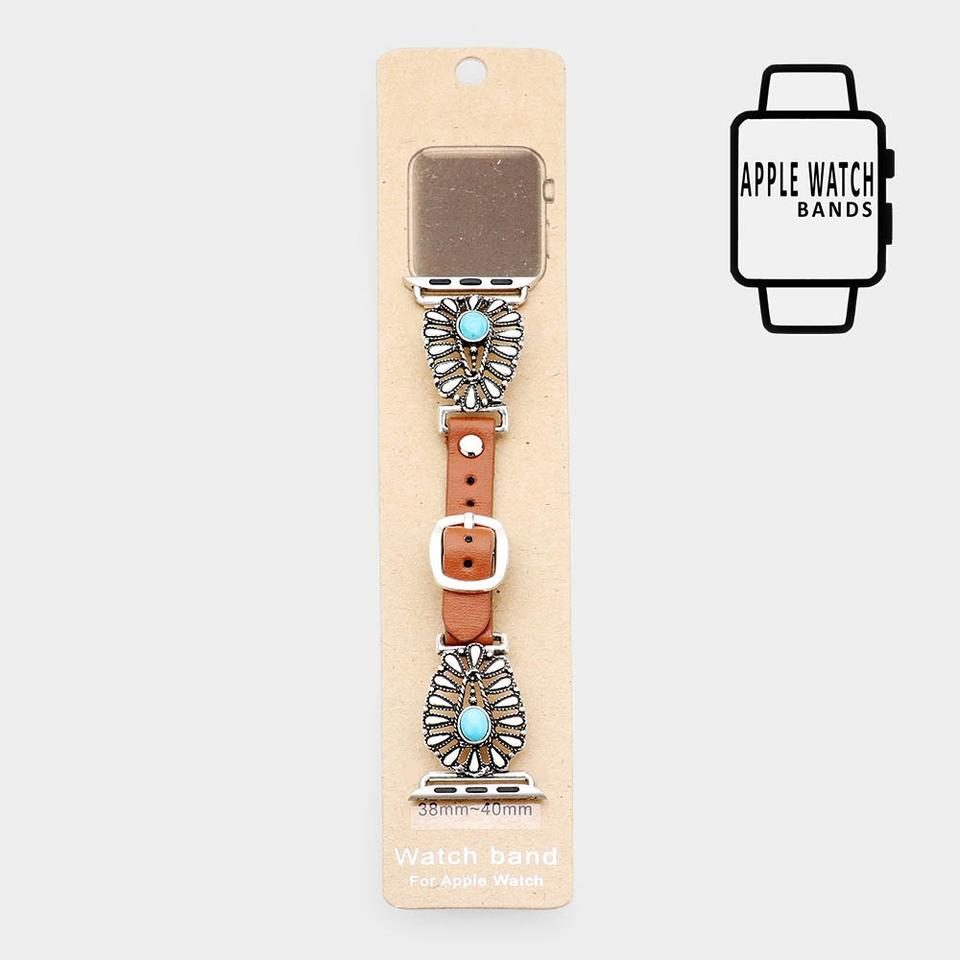 Natural Stone Le Leather Strap Band