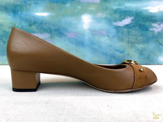 Gucci Nappa Peep Leather Beige Pumps Image 3