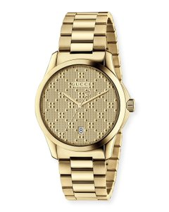 Gucci G-Timeless Stainless Steel Diamante Dial Mens YA126461