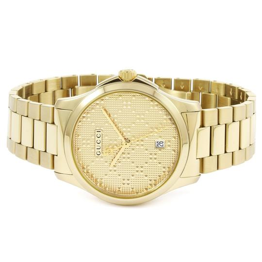 Gucci G-Timeless Stainless Bracelet Diamante Dial Mens YA126461 Image 1