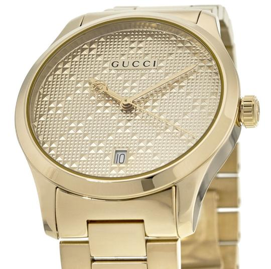 Gucci G-Timeless Stainless Bracelet Diamante Dial Mens YA126461 Image 2