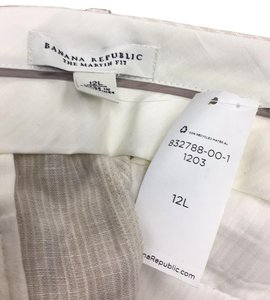 Banana Republic Flare Pants tan stripe