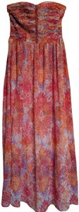 Orange and Purple Maxi Dress by Moulinette Soeurs Summer Maxi Strapless