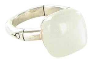John Hardy Bamboo Orb Ring with 14mm Moonstone Sterling Silver Sz 7 New
