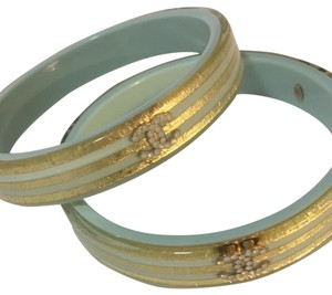 Chanel Chanel blue gold bangle 2