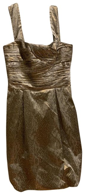 Item - Silver Gray Gold Short Casual Dress Size 8 (M)