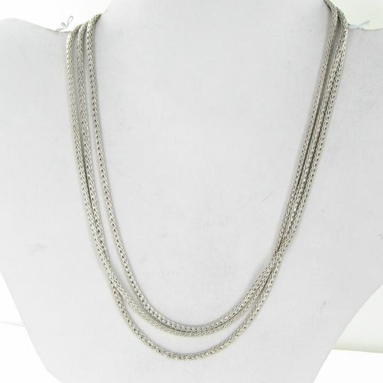 John Hardy Classic Chain Three Row Necklace 16-18