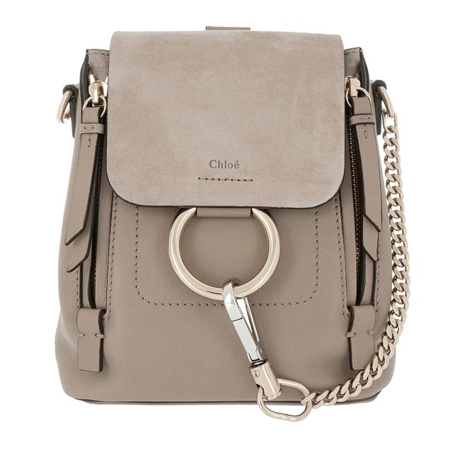 Item - Faye Small Tan Motty Grey Leather Backpack