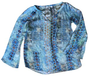Tangerine NYC Top Blue Multi