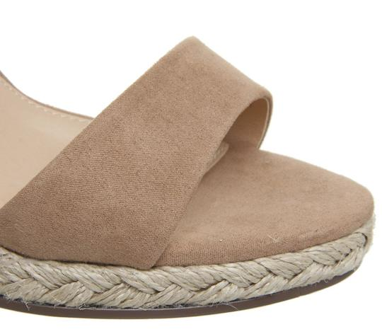 Office Espadrille Never Worn London Us Size 9 Nude Wedges Image 4
