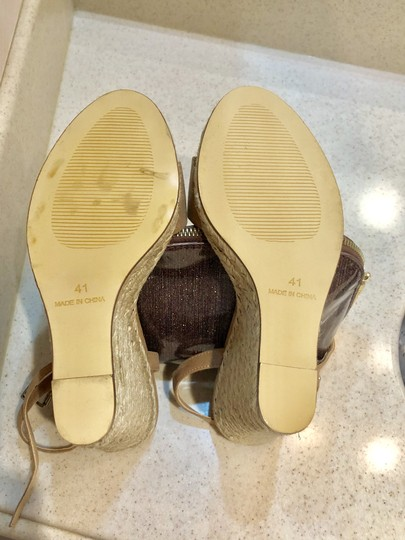 Office Espadrille Never Worn London Us Size 9 Nude Wedges Image 5