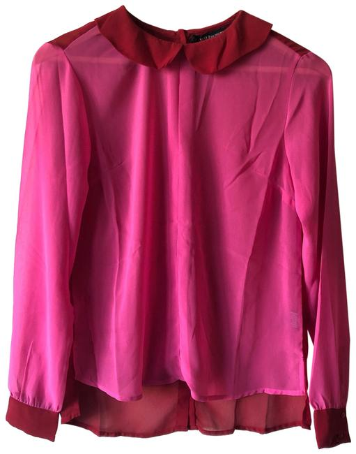 Item - Red/Pink Nwot Sheer Blouse Size 0 (XS)