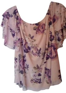 bailey blue Top Blush print