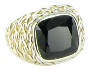 John Hardy Classic Chain Black Onyx Ring Sterling Sterling Silver Size 7