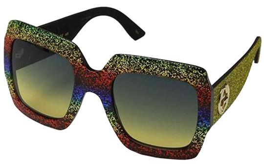 Preload https://img-static.tradesy.com/item/25483526/gucci-gold-glitter-arms-multi-color-frame-and-grey-lens-women-oversized-sunglasses-0-1-540-540.jpg
