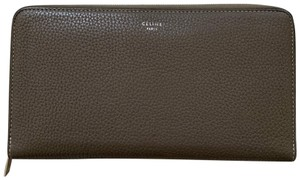 Céline Celine Zip Around Wallet in Souris