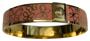 Coach Coach Butterfly Coral Gold Bangle