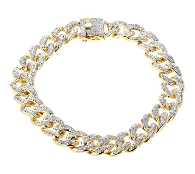 Unbranded Yellow Gold 10k Miami with Diamonds Mens 42gms 2.00ctw Bracelet Unbranded Yellow Gold 10k Miami with Diamonds Mens 42gms 2.00ctw Bracelet Image 1