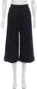 Prada Pants High Rise Trouser/Wide Leg Jeans-Dark Rinse