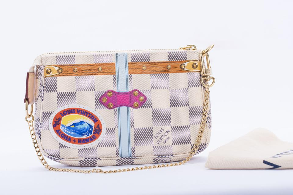 f3004ebcc Louis Vuitton Damier Special Edition Pochette Hawaii Collection Wristlet in  Azur Image 0 ...