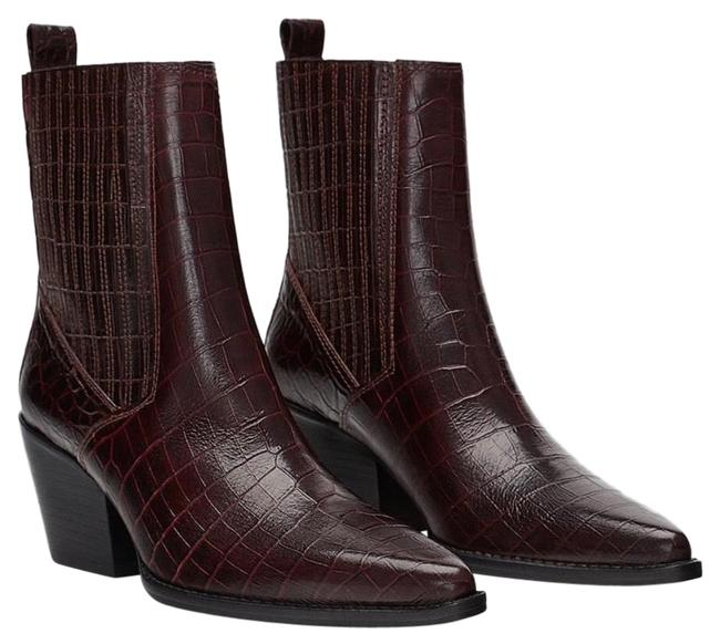 Item - Burgundy Ankle Boots/Booties Size EU 38 (Approx. US 8) Regular (M, B)