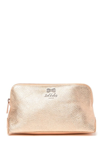 Item - Rose Gold Clutch Jeny Pescara Leather Make Up Cosmetic Bag