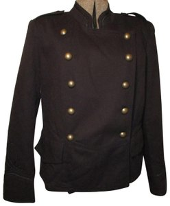 a.n.a. a new approach Denim Cotton Double Breasted Onm001 Military Jacket