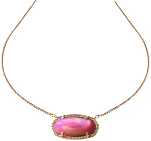 Kendra Scott New Kendra Scott Delaney ROSE GOLD Necklace in Lilac Mother of Pearl