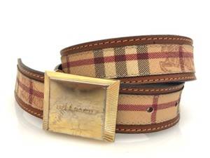 Burberry Burberry Tartan Plaid Canvas Belt