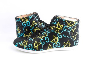 Gucci Black Ghost High-top Sneakers In Guccighost Print Shoes