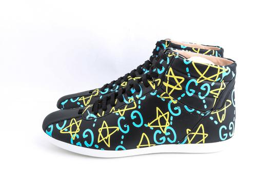 Gucci Black Ghost High-top Sneakers In Guccighost Print Shoes Image 2