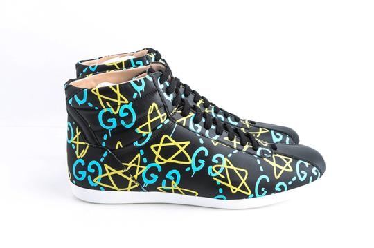 Gucci Black Ghost High-top Sneakers In Guccighost Print Shoes Image 3