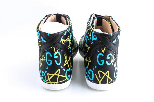 Gucci Black Ghost High-top Sneakers In Guccighost Print Shoes Image 4