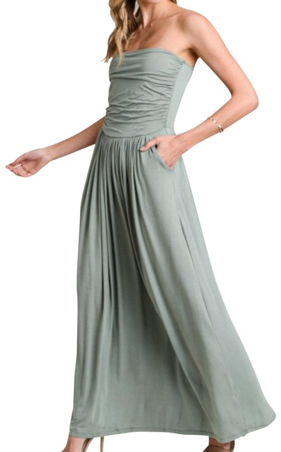Item - Sage Strapless Long Casual Maxi Dress Size 6 (S)