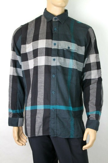 Burberry Green/Black L Men's Green/Black Brit Cotton Nova Check Button Up 3983582 Shirt Image 2