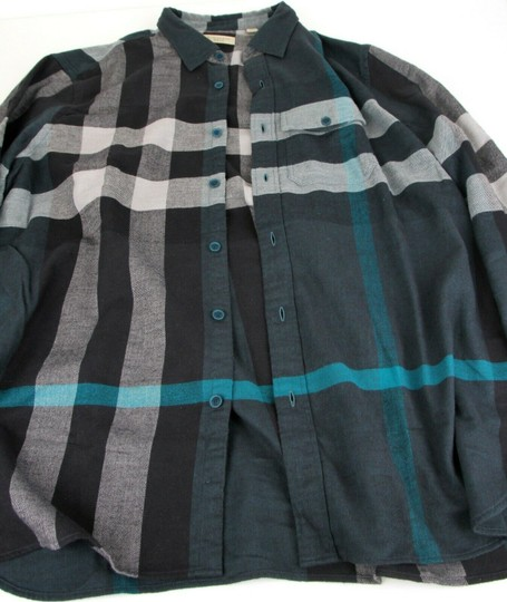Burberry Green/Black L Men's Green/Black Brit Cotton Nova Check Button Up 3983582 Shirt Image 9