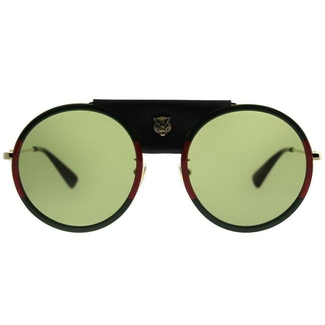 Item - Green/Red/Gold Gg0061s 017 Round Sunglasses