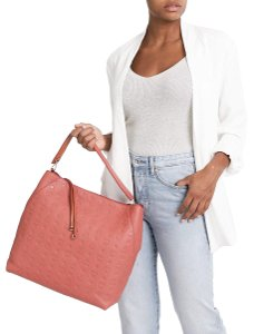 MCM Summer Spring Monogram Tote in Cocoa