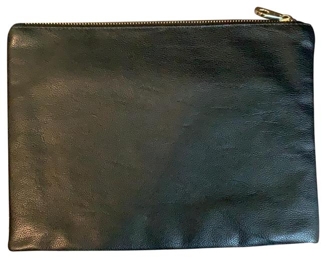 Item - Clutch/Pouch Black Leather Clutch