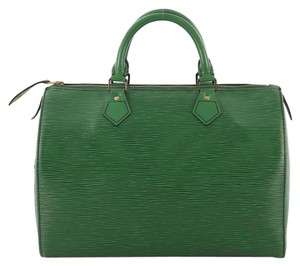 Louis Vuitton Speedy Handbag Satchel in green