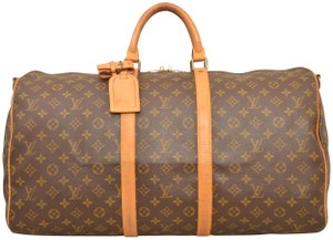 Louis Vuitton Duffle Gym Suitcase Bandouliere Luggage Brown Travel Bag