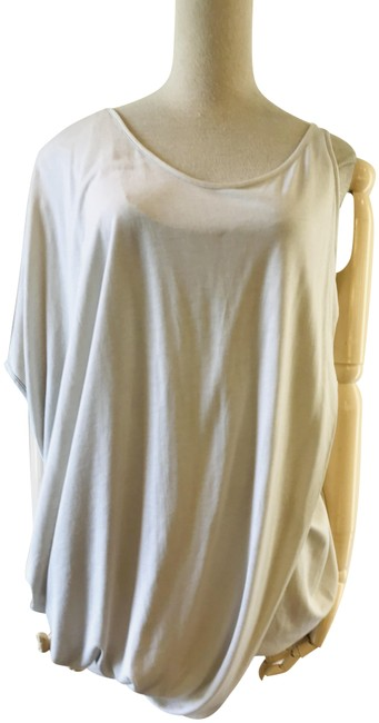Helmut Lang Light Grey Drape Panel Tee Shirt Size 12 (L) Helmut Lang Light Grey Drape Panel Tee Shirt Size 12 (L) Image 1