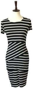 Bailey 44 short dress Black and White Jersey Striped Stretch on Tradesy