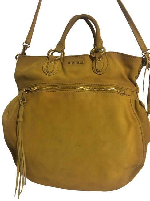 Item - Crossbody Brown/ Crossbody/ Satchel Handbag Brown/ Mustard Suede Tote