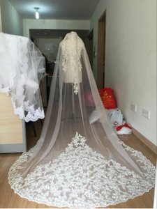 Long White Or Ivory 3m One Tier with Comb Bridal Veil