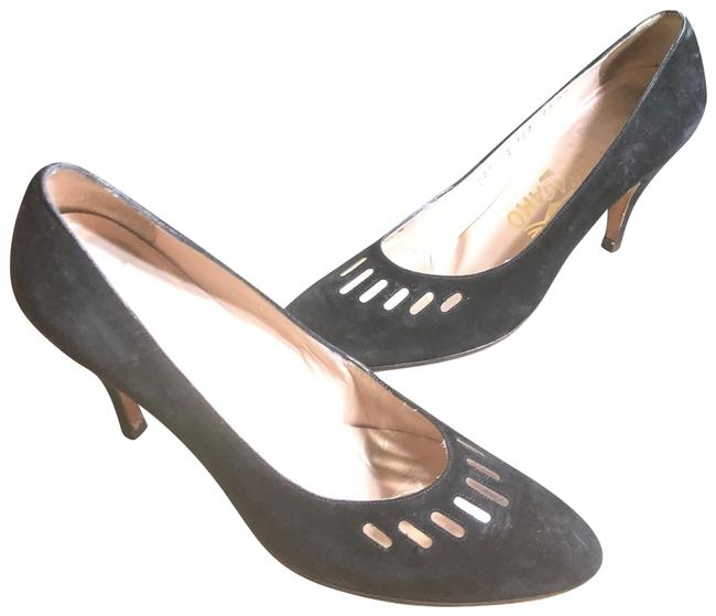 """Item - Black Jet Sueded Italian Leather 3"""" Pumps Size US 7.5 Narrow (Aa, N)"""