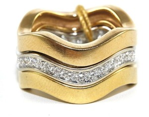 Cartier Cartier Curve Diamond Trinity Stackable Ring Band 18k Gold 1.00Ct
