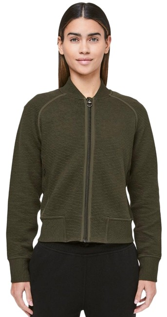 Item - Dark Olive On Repeat Bomber Activewear Outerwear Size 4 (S)